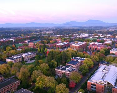 Aerial view of Oregon State University, Corvallis campus